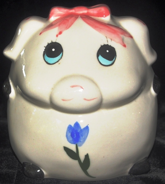 "CDM product ""Pink Bow"" Piggy Bank big image"