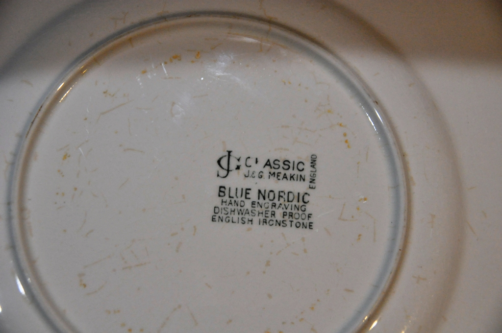 CDM product Blue Nordic - DINNER PLATES small thumbnail image